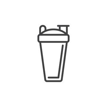 Sport shaker bottle line icon, outline vector sign, linear style pictogram isolated on white. Symbol, logo illustration. Editable stroke. Pixel perfect vector graphics
