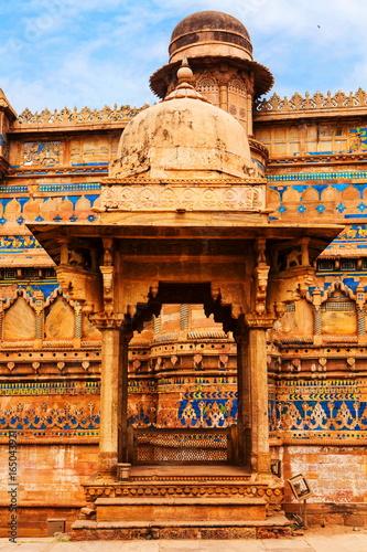 Southern Part Of Gwalior Fort Gwalior Madhya Pradesh Stock Photo