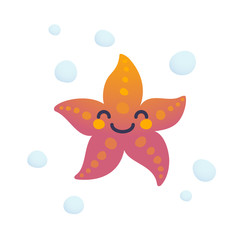 Adorable starfish character