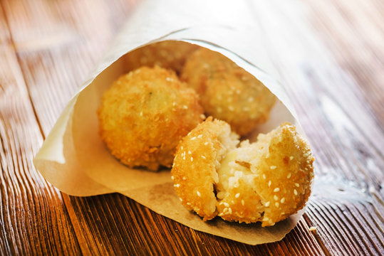 Arancini - fried rice balls