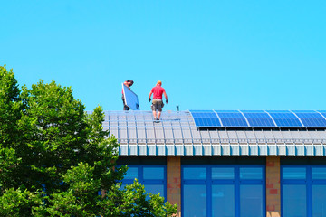 Mounting solar panels on the roof