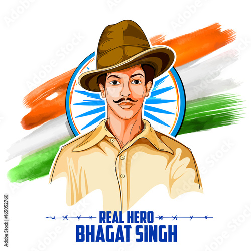 Tricolor india background with nation hero and freedom fighter tricolor india background with nation hero and freedom fighter bhagat singh for independence day altavistaventures Choice Image