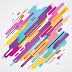 Abstraction modern style composition made of various rounded shapes in colorful. elements design, Vector