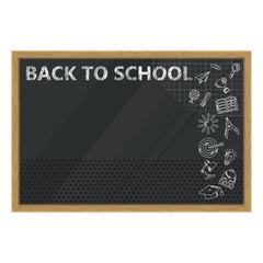 black to school black chalkboard