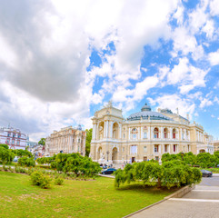 The Odessa National Academic Theater of Opera and Ballet is the oldest theater in Odessa, Ukraine. top part of Opera house.