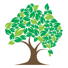 Icon illustration tree with the concept of the Australian continent shape