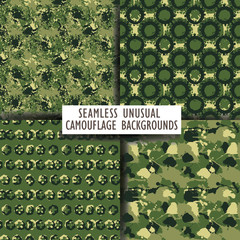 Seamless backgrounds of a camouflage