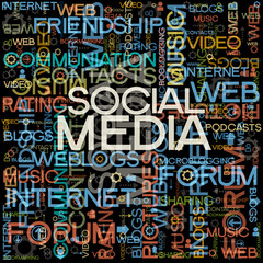Social Media backgrounds with the words