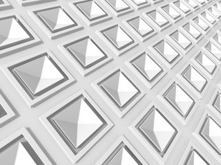 White Abstract Squares Design Background