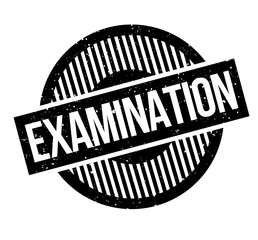Examination rubber stamp. Grunge design with dust scratches. Effects can be easily removed for a clean, crisp look. Color is easily changed.