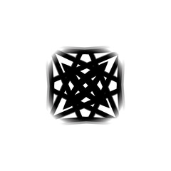 Geometric pattern symmetry symbol fractale pentagram astrology