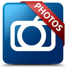 Photos (camera icon) blue square button red ribbon in corner
