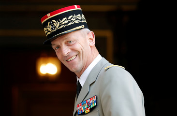 Newly-named Chief of the Defence Staff French Army General Francois Lecointre arrives at the hotel Matignon