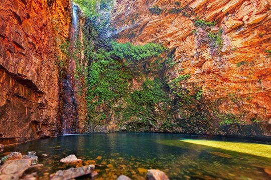 Emma gorge and waterfall in Kimberley, Western Australia