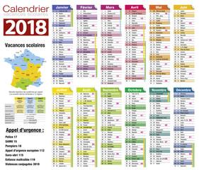 Calendrier 2018-10 - Vacances scolaire complet