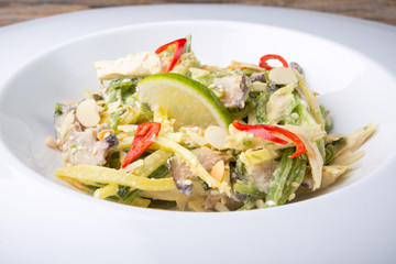 Asian salad with nuts