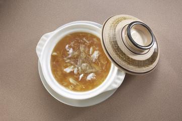 Asian cuisine shark fin soup