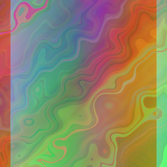 smooth uneven forms texture colorful background with orange green blue colors