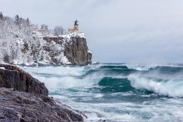 Stormy Waters at Split Rock