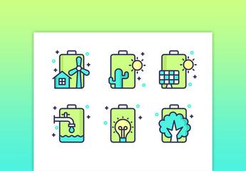 Battery Flat Illustrations