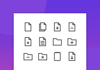 Files Line Icons