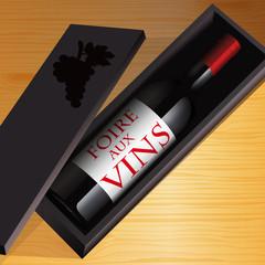 vin - foire aux vins - bouteille de vin - publicité - web - commerce