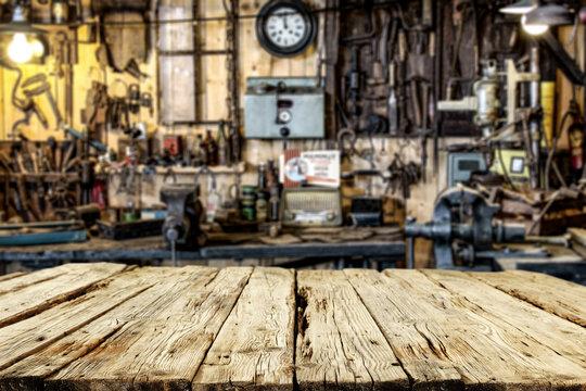 workshop and desk for your decoration