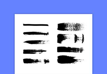 Pen Brush Strokes