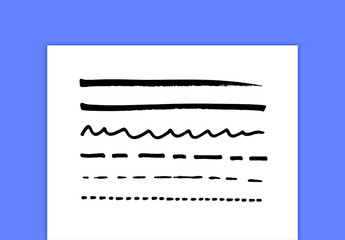 Thin Pen Brush Strokes
