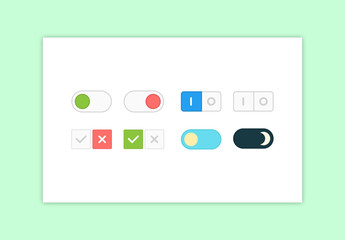 Flat Toggle Buttons