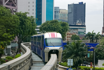 Fast train in Asian city