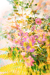 Beautiful, artistic, floral, Summer background