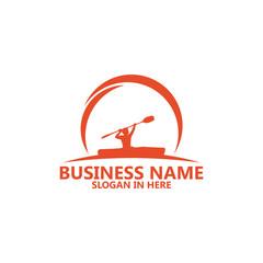 Kayaking Logo Template Design