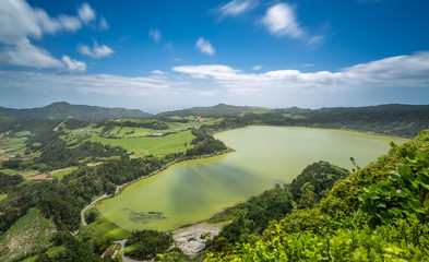 Furnas Lagoon in the Azores