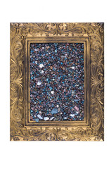 Old frame with sand