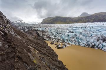 Svinafellsjokull glacier in Iceland