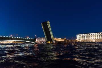 Trinity Bridge in St. Petersburg, Russia