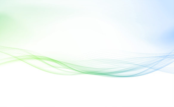 Refreshing spring speed swoosh lines border layout. Abstract bright light futuristic cool curve smoke wave background