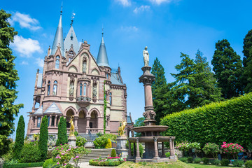 Fototapeten Schloss Drachenburg Castle on Drachenfels in Königswinter, Germany. Taken on 14 June 2017 in Drachenfels, Germany.