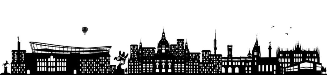Hannover Skyline schwarz