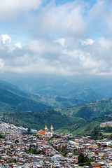 Church and Neighborhood in Manizales, Colombia