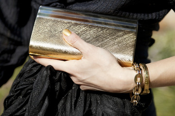 Golden Chic - Stylish Woman Purse Detail