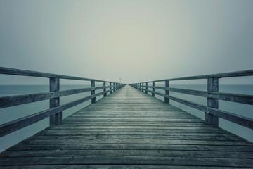 long sea bridge railing