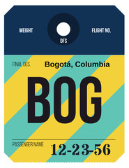 Vintage Luggage Tag. Real looking airport luggage tag.