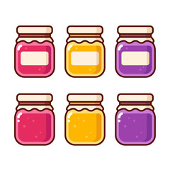 Jam jar icons