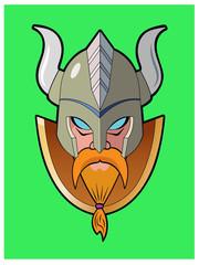 Viking Logo / A head shot of a mythical viking.