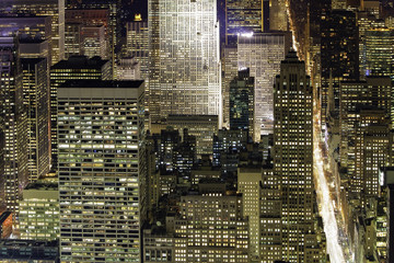 USA, New York City, Manhattan,  Elevated view of mid-town Manhattan