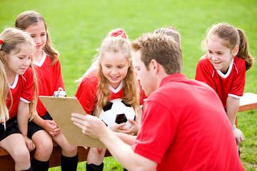 Soccer: Coach Teaching Soccer Strategy