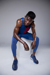 Portrait of an african athlete