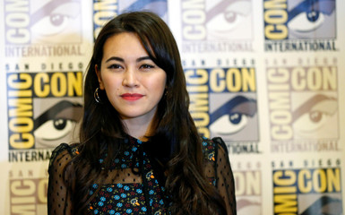 """Cast member Henwick poses at an event for """"The Defenders"""" during the 2017 Comic-Con International Convention in San Diego"""